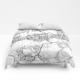 Shenzhen Map White Comforters