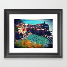 In the Middle of the Blue  Framed Art Print