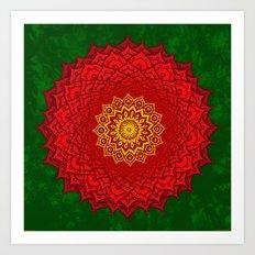 okshirahm rose mandala Art Print