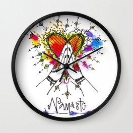 Heart Opening Namaste Wall Clock