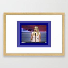 whore/Ivanka Framed Art Print