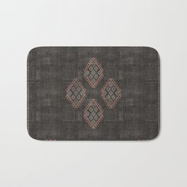 Kilim in Black and Pink Bath Mat