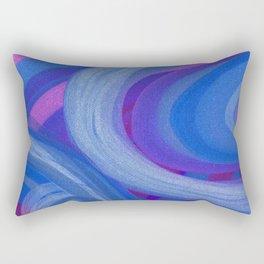 Blue Rings Rectangular Pillow