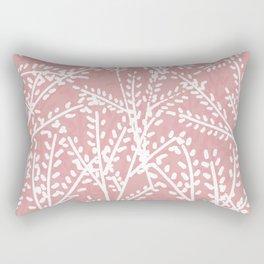Pink Leaves Rectangular Pillow