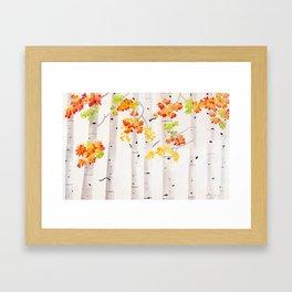 Autumn Birch Song Framed Art Print
