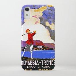 Cadenabbia Lake Como Golf And Tennis iPhone Case