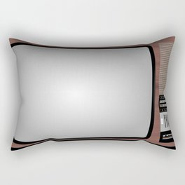 Retro Vintage Old Television Grandcolor 777 Jugoslavija 1970s 1980s Neven Zubak Rectangular Pillow