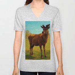 Young Deer (Cervidae) Unisex V-Neck