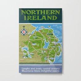 Northern Ireland Vintage Travel Poster Metal Print
