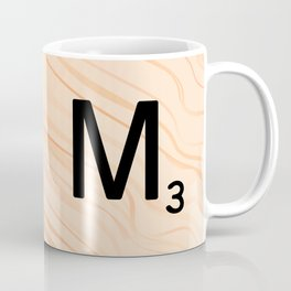 Scrabble Letter M - Large Scrabble Tiles Coffee Mug