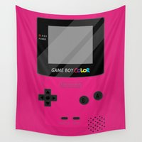 gameboy Wall Tapestries featuring Gameboy Color - Berry by katy-makes-things