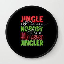 Jingle all the way Wall Clock