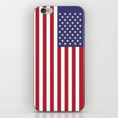 USA flag - Hi Def Authentic color & scale image iPhone & iPod Skin