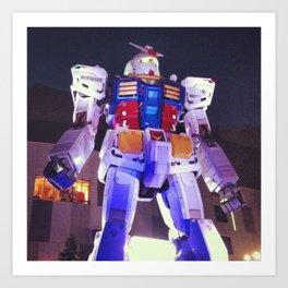 Gundam Robot Tokyo Art Print