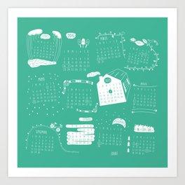 Calendar 2015 Art Print