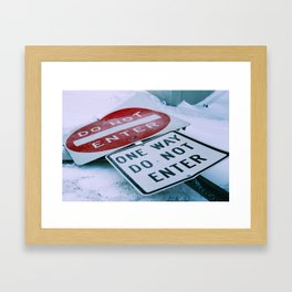 Do Not Enter Framed Art Print