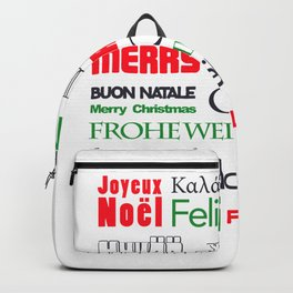 merry christmas in different languages II Backpack