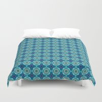 indigo Duvet Covers featuring Indigo  by Laura Ruth