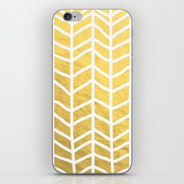 gold chevron iPhone Skin