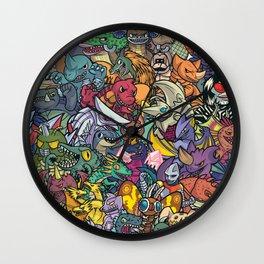 Kaiju Crew Wall Clock