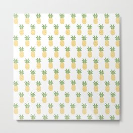 Pineapples Metal Print
