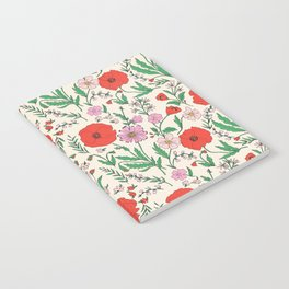 RETRO POPPY - PINK & RED Notebook