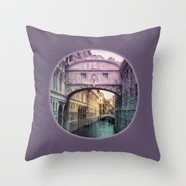 Ponte dei Sospiri | Bridge of Sighs - Venice (colored version) Throw Pillow