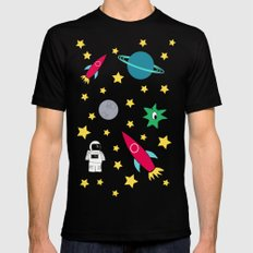 Space Objective Mens Fitted Tee Black LARGE