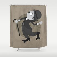 chaplin Shower Curtains featuring Chaplin by GARABATOS