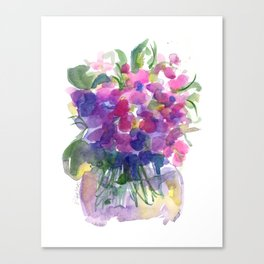 Little Pink Violets Canvas Print