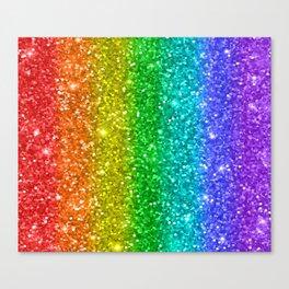 Glittery Rainbow Canvas Print