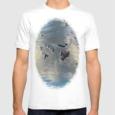 Drowning Leaves MEDIUM White Mens Fitted Tee