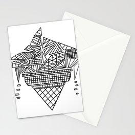 geometry ice cream Stationery Cards