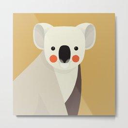 Koala, Animal Portrait Metal Print