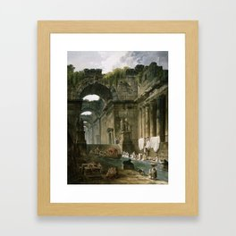 Hubert-Robert-French-1733-1808-Ruin Framed Art Print