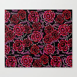 Roses and Pearls 93 Canvas Print