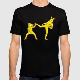 Horse-Dude versus Kick-Bunny T-shirt