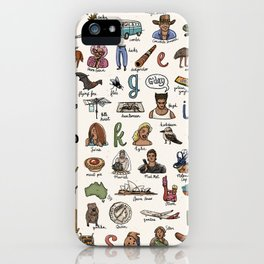 The Australian Alphabet iPhone Case