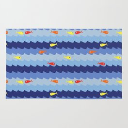Fish fishing for friends Rug