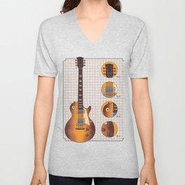 Guitar Gibson Pieces Unisex V-Neck
