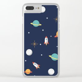 Space Pattern Clear iPhone Case