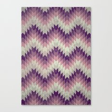 Chevron pattern_Pink Canvas Print