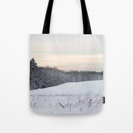 Powdered Snow Scene Tote Bag
