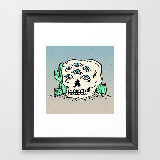 DIE IN THE DESERT Framed Art Print