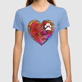 Dog Art - Puppy Love 2 - Sharon Cummings T-shirt