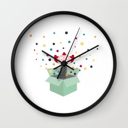 Clown in a box Wall Clock