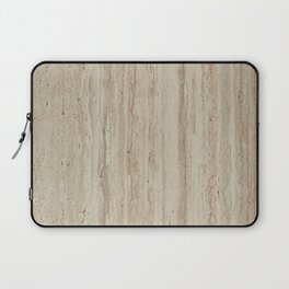 Beige Travertine Stone Texture Laptop Sleeve