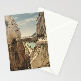 """The most dangerous trail in the world"". El Caminito del Rey Stationery Cards"