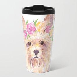 yorkie watercolor Travel Mug