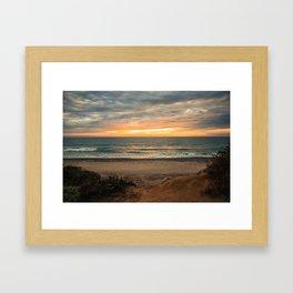 South Carlsbad State Beach Framed Art Print